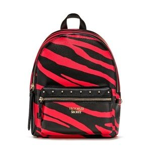 NWT Victoria's Secret Red Zebra Small Backpack